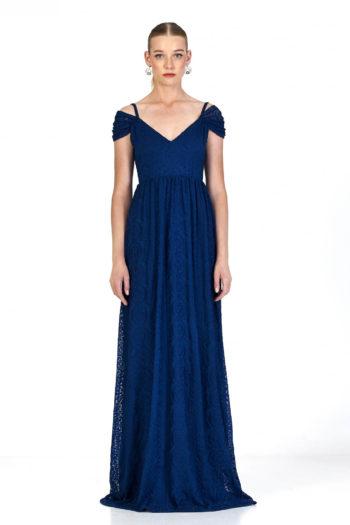 Vestido Linette Azul Marú Atelier