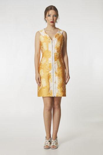 vestido-corto-amarillo