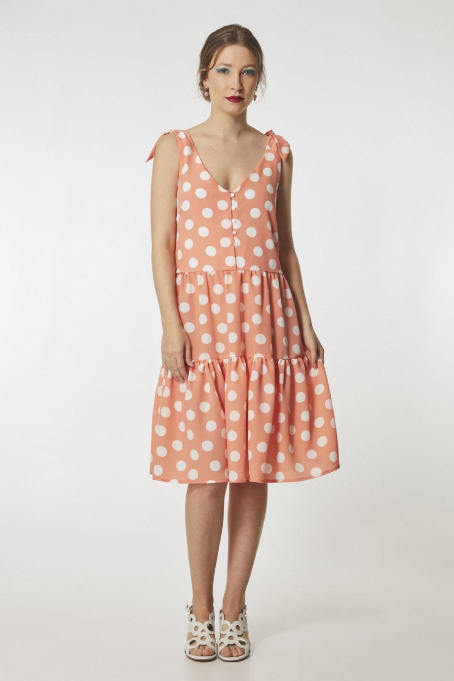 vestido-corto-lunares