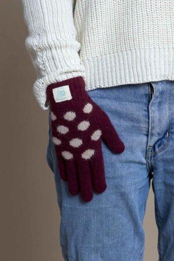 lana-mint-guantes-tactiles-dots-burdeos