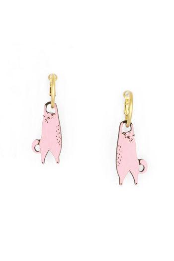 materia-rica-pendientes-hanging-cat-pink