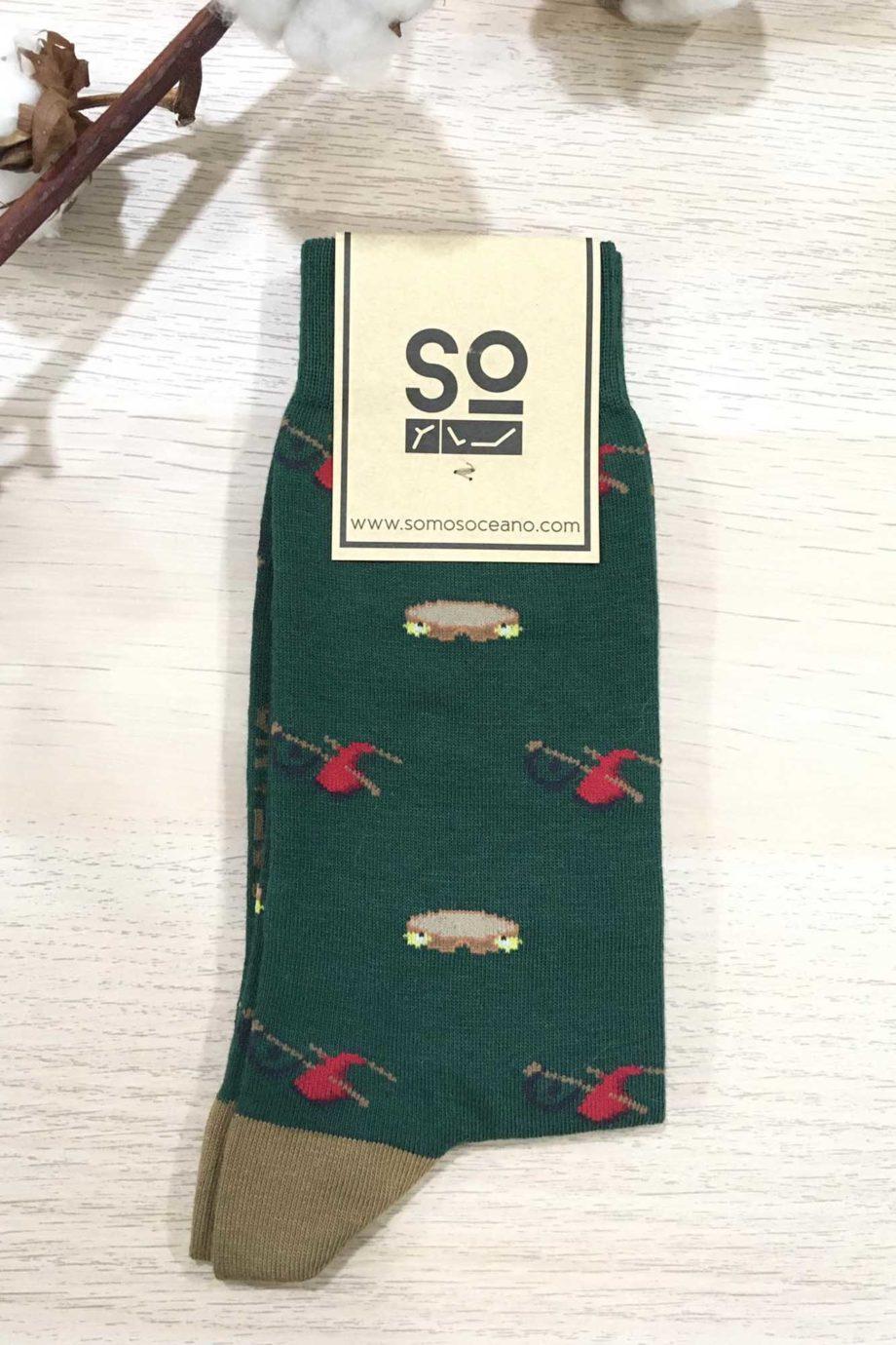 somosoceano-calcetines-gaitas-panderetas-verde