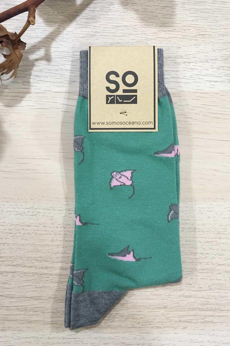 somosoceano-calcetines-mantas-verde-menta