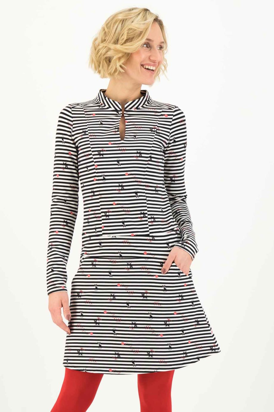 BLUTSGESCHWISTER-vestido-SPIN-THE-STRIPES