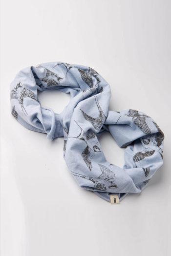 GIRAFFA-pañuelo-de-algodon-loopie-golondrina-azul