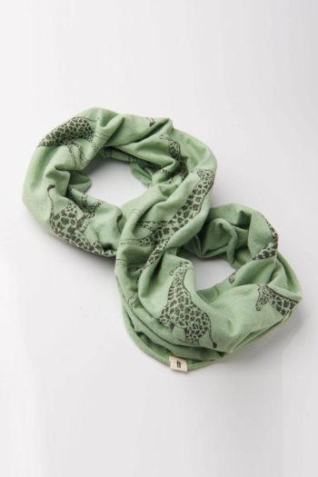GIRAFFA-pañuelo-algodón-LOOPIE-JIRAFA-VERDE