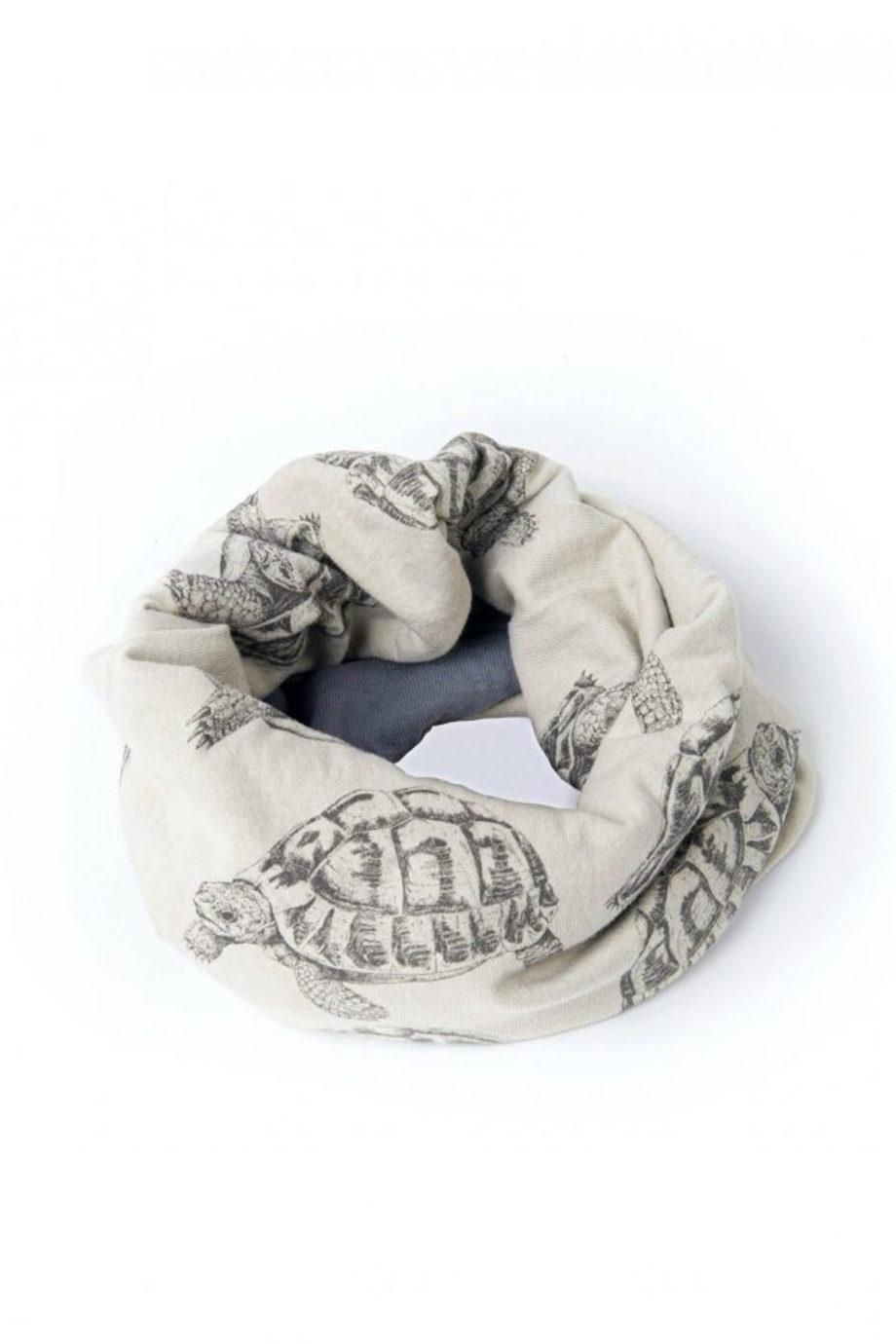 GIRAFFA-pañuelo-bicolor-tortuga-beige