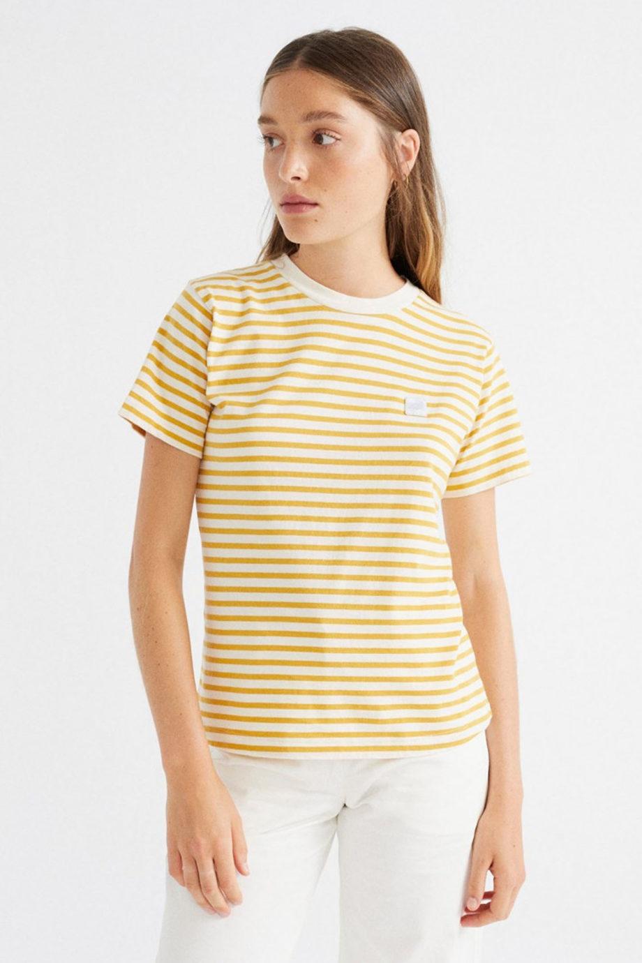 THINKING-MU-camiseta-rayas-MUSTARD