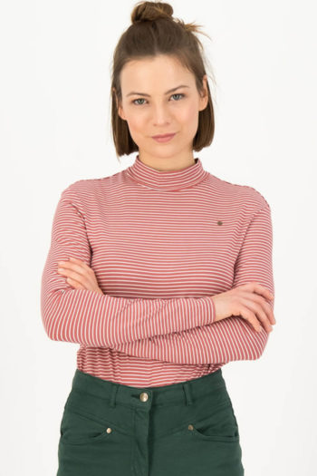 Camiseta-de-rayas-LONELY-LIPS-ROSA